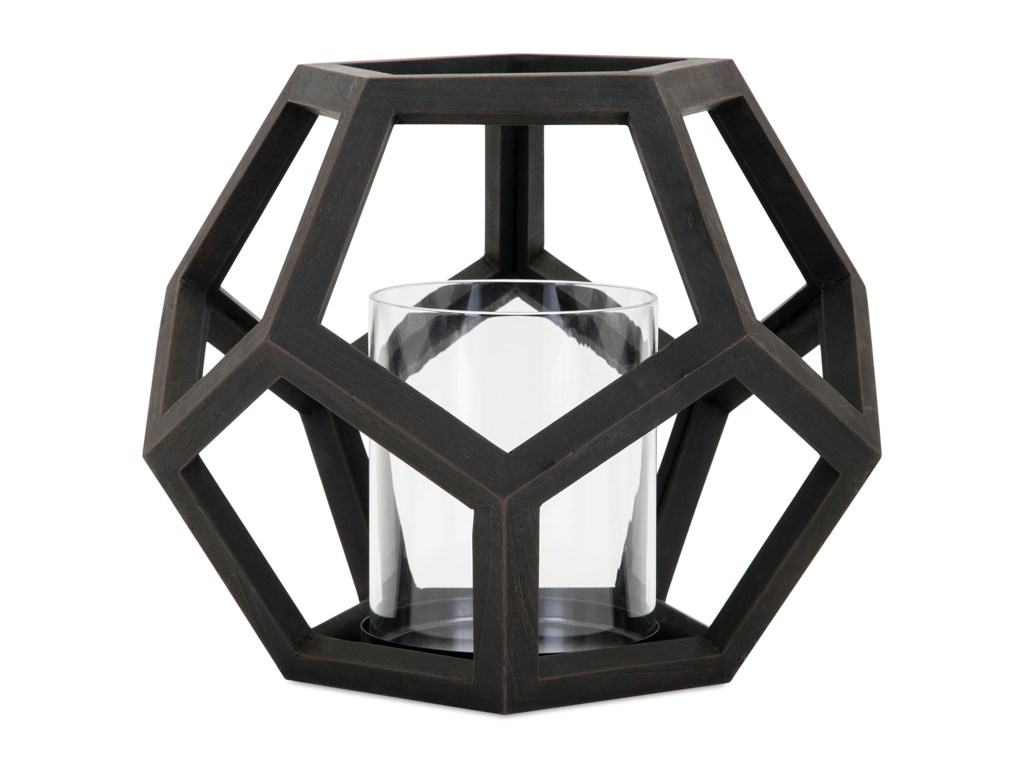 IMAX Worldwide Home Candle Holders and LanternsUbon Small Wood Lantern