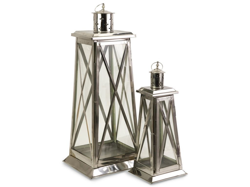IMAX Worldwide Home Candle Holders and LanternsRegatta Steel Candle Lanterns - Set of 2