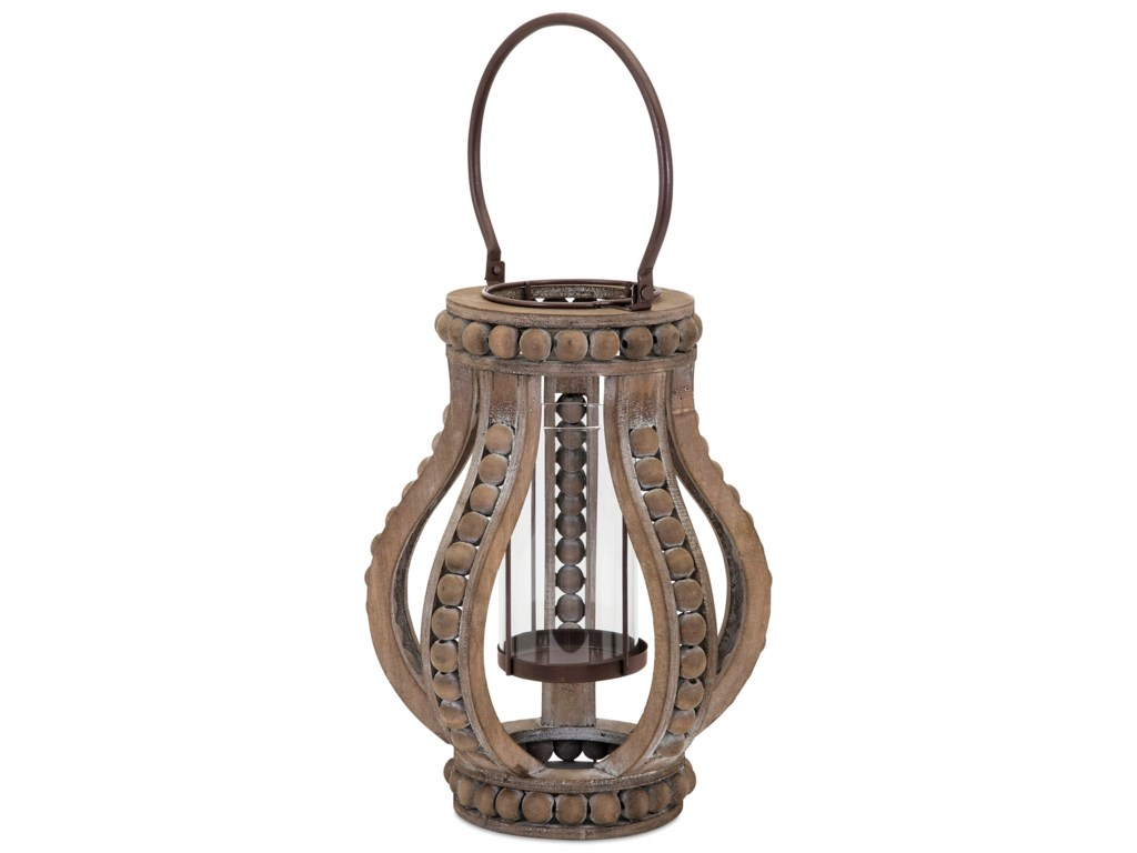 IMAX Worldwide Home Candle Holders and LanternsAkiko Small Wooden Lantern