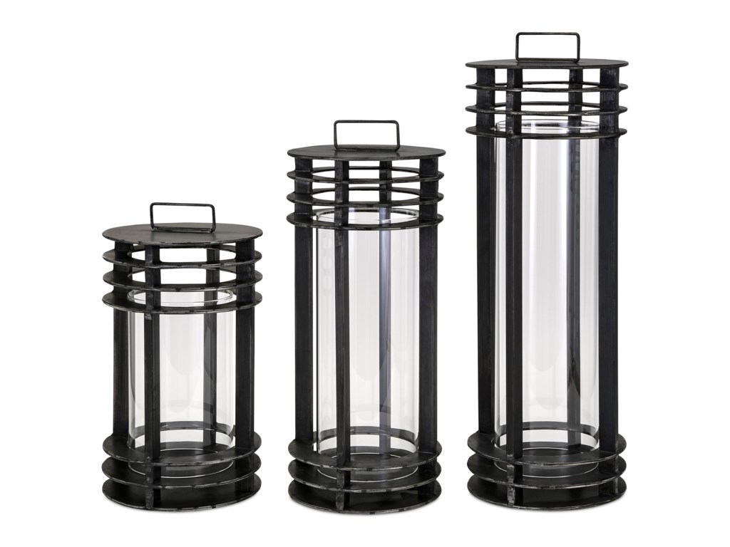IMAX Worldwide Home Candle Holders and LanternsElectra Metal Lanterns - Set of 3