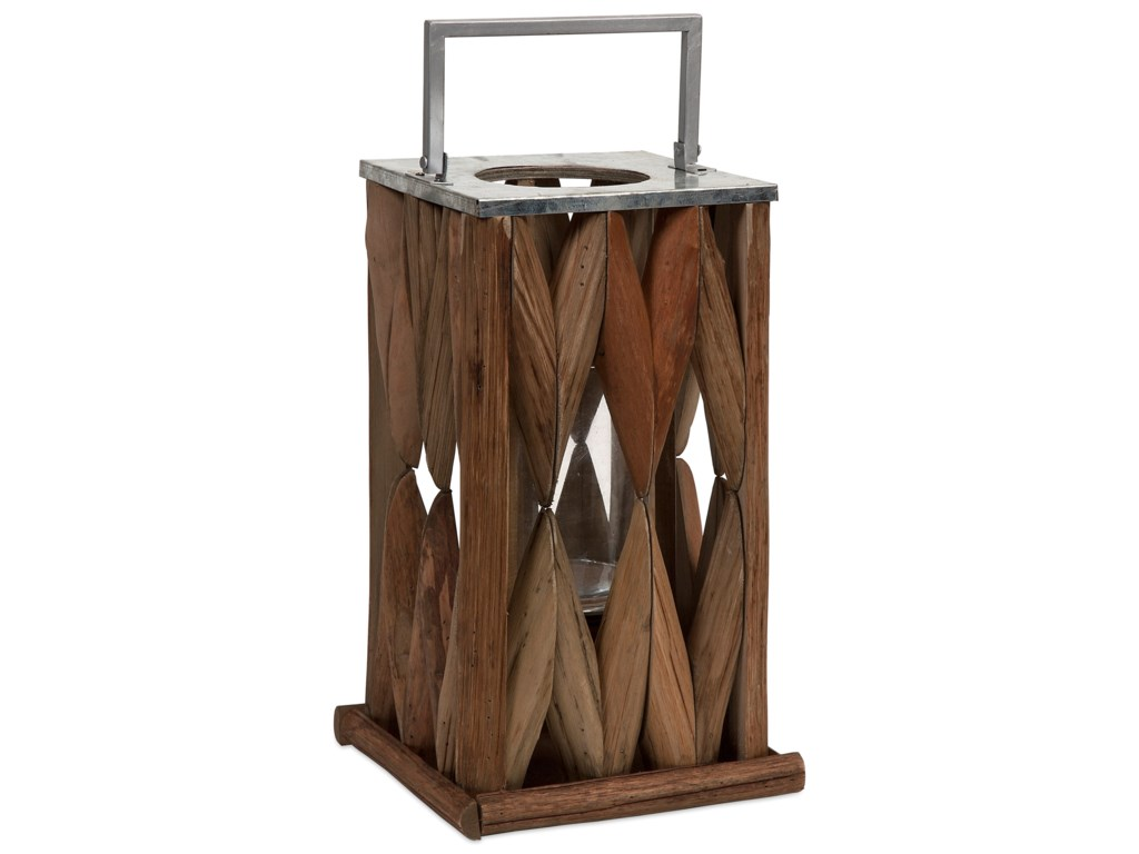 IMAX Worldwide Home Candle Holders and LanternsSantiago Large Wooden Lantern
