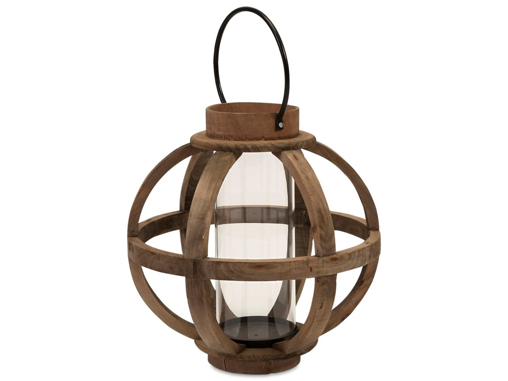 IMAX Worldwide Home Candle Holders and LanternsGarrett Wood Lantern