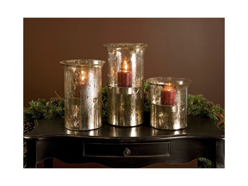 IMAX Worldwide Home Candle Holders and LanternsMercury Candleholders - Set of 3