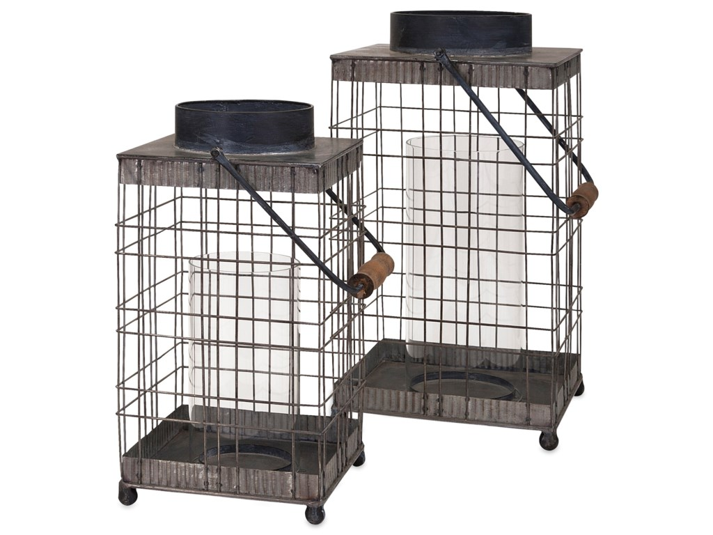 IMAX Worldwide Home Candle Holders and LanternsPitzer Small Wire Lantern
