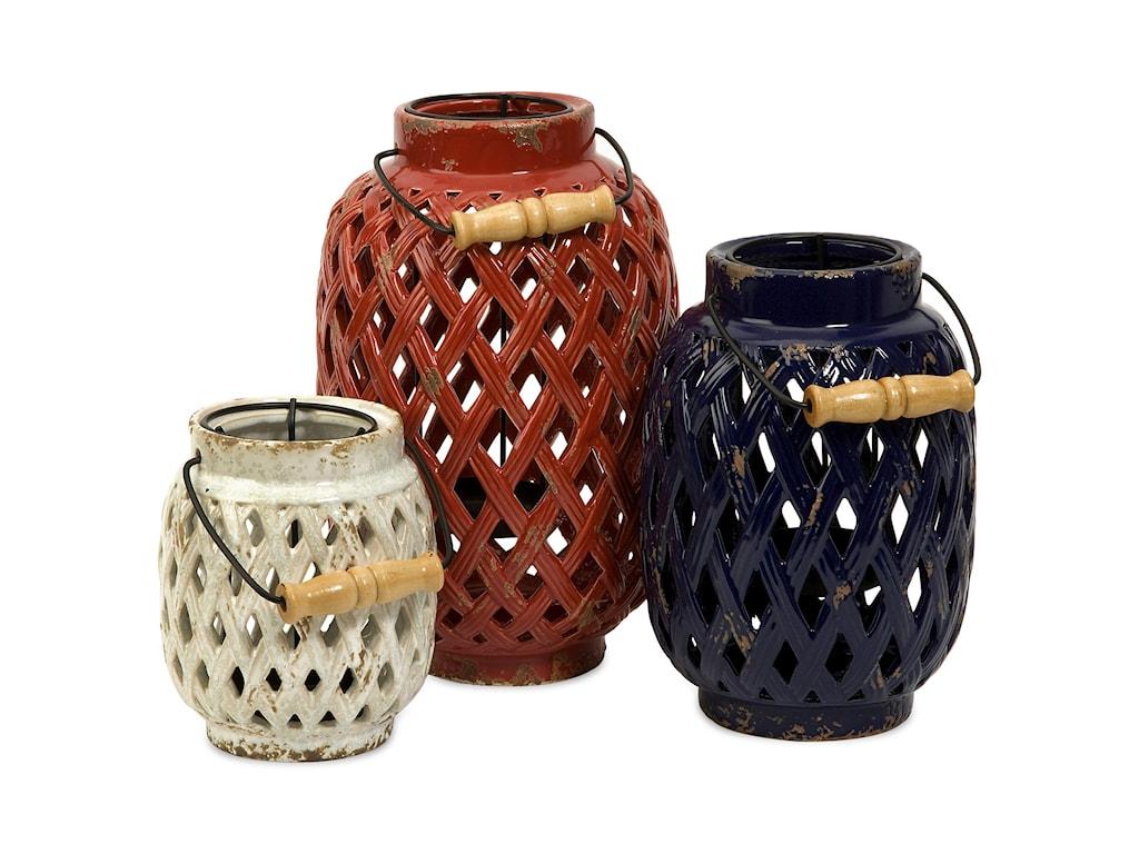 IMAX Worldwide Home Candle Holders and LanternsBailey Lattice Lanterns - Set of 3