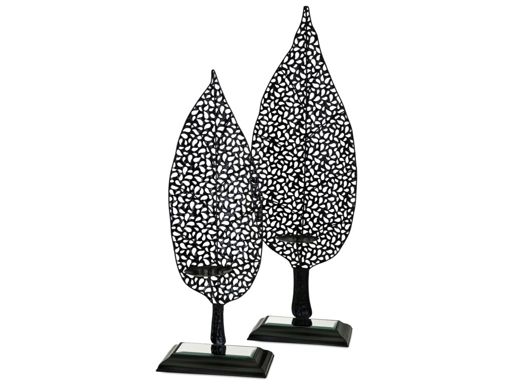 IMAX Worldwide Home Candle Holders and LanternsAaron Leaf Candleholders - Set of 2