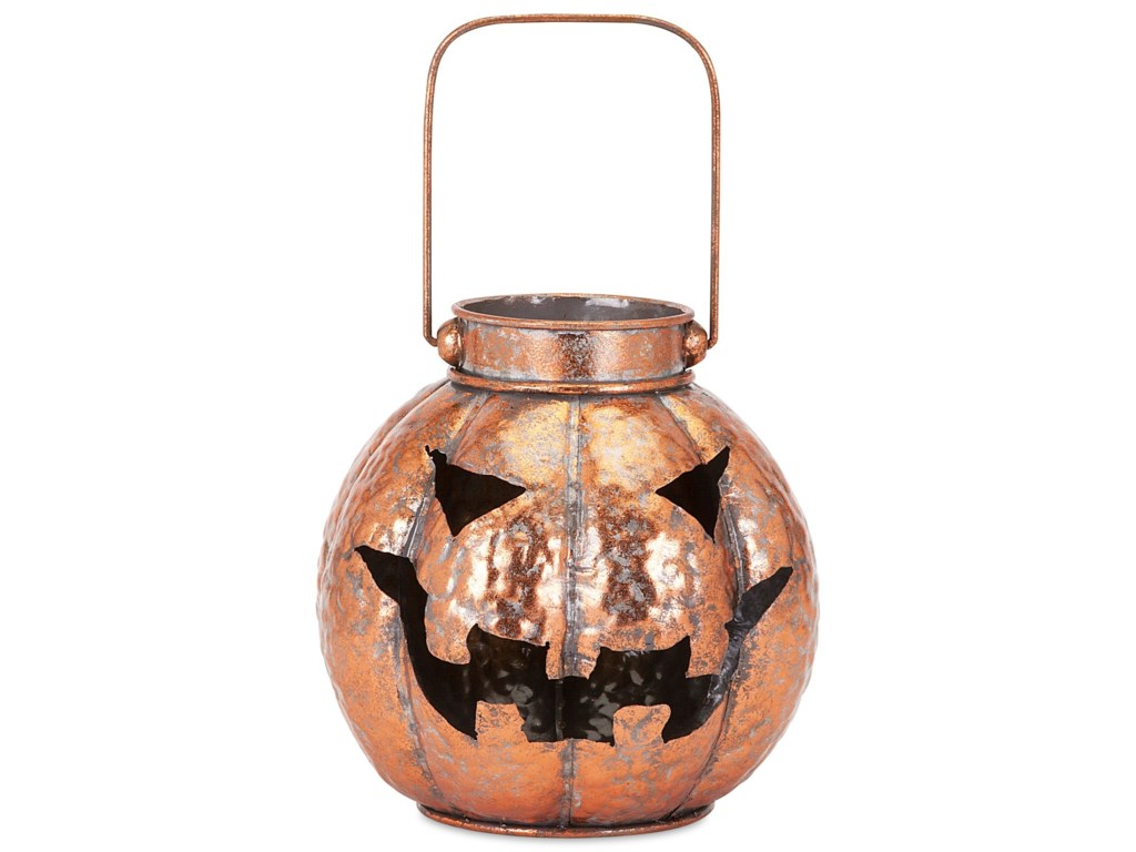 IMAX Worldwide Home Candle Holders and LanternsRylan Copper Finish Jack-o'-lantern