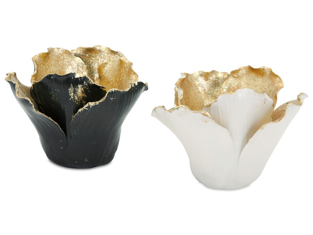 IMAX Worldwide Home Candle Holders and LanternsLucien Gold Leaf Porcelain Candleholders - A
