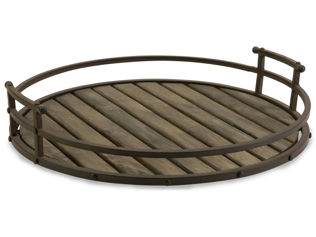 Carolyn Kinder Vermont Iron And Wood Tray By Imax Worldwide Home