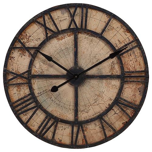 Imax worldwide home clocks bryan map wall clock howell furniture imax worldwide home clocks bryan map wall clock gumiabroncs Images