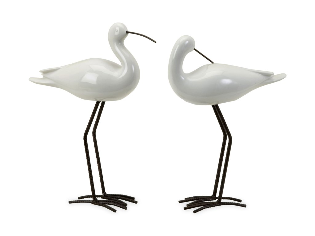 IMAX Worldwide Home Decorative FigurinesShire Ceramic Seabirds - Set of 2