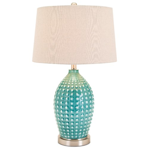 Imax worldwide home lighting adaline ceramic table lamp