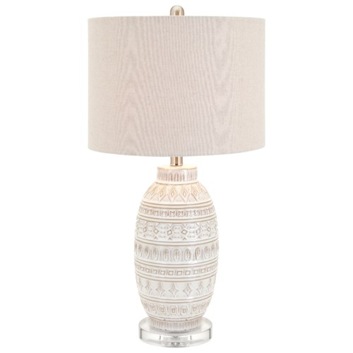 Imax worldwide home lighting addonis ceramic table lamp