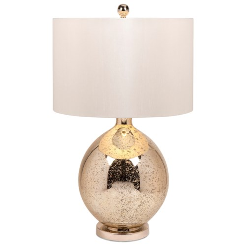 Imax worldwide home lighting avignon mercury glass table lamp