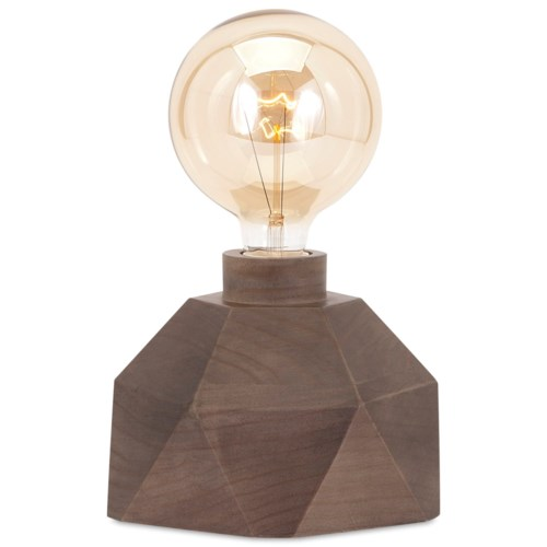 Imax worldwide home lighting velocity wood table lamp with edison bulb