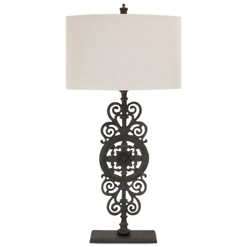 Imax worldwide home lighting watson cast iron table lamp