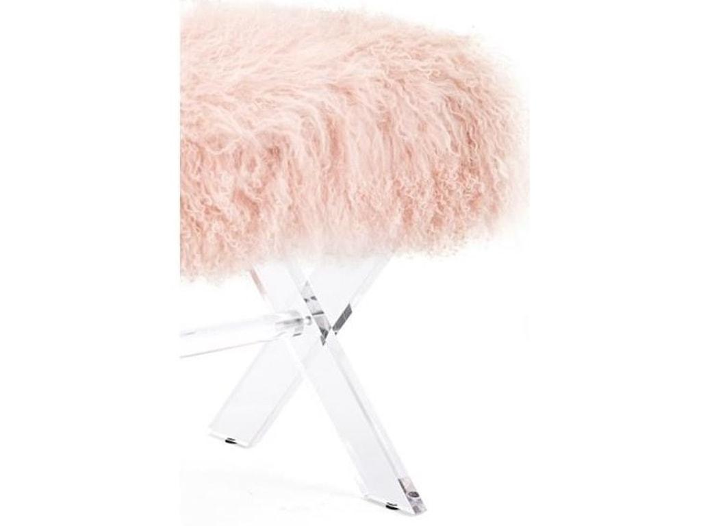 IMAX Worldwide Home SeatingTibetan Fur and Acrylic Bench