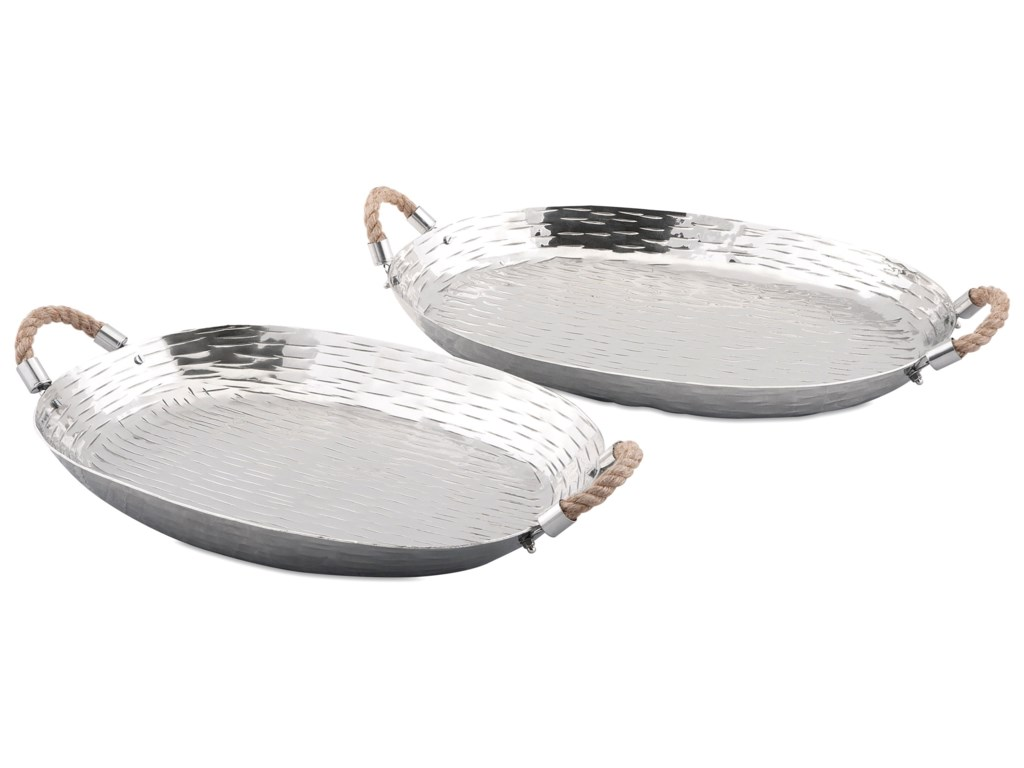 Imax Worldwide Home Trays Plates And Plattersgarner Aluminum Set Of 2