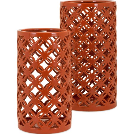 Persimmon Vases - Set of 2