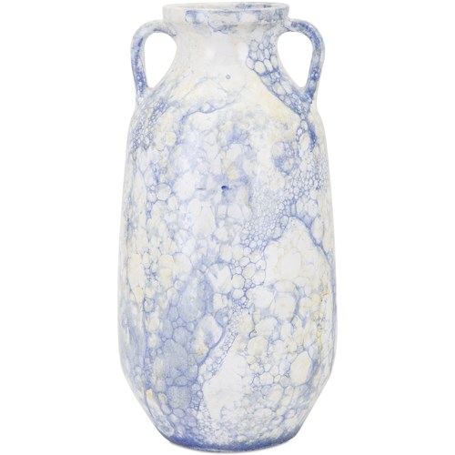 Imax Worldwide Home Vases Watercolor Large Blue Vase Howell