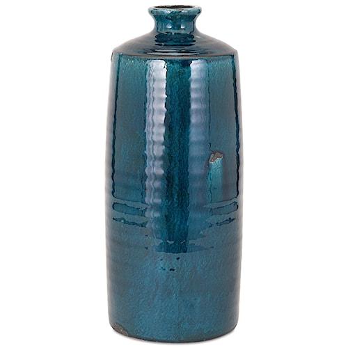 Imax Worldwide Home Vases Arlo Large Blue Vase Howell Furniture
