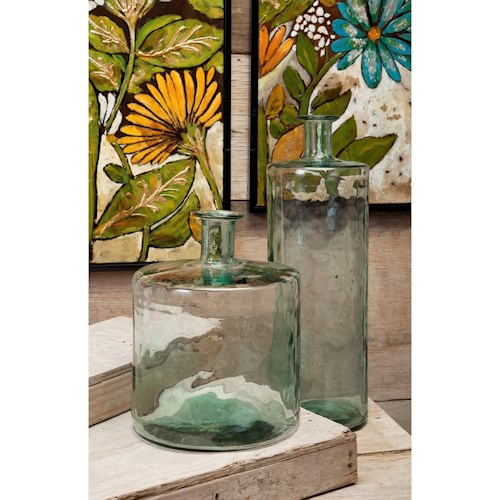 Imax Worldwide Home Vases Vettriano Tall Oversized Recycled Glass