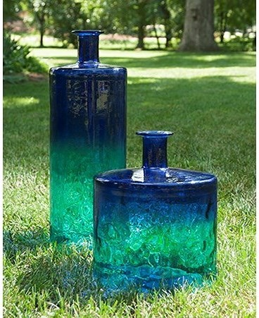 Imax Worldwide Home Vases Luzon Tall Oversized Recycled Glass Vase