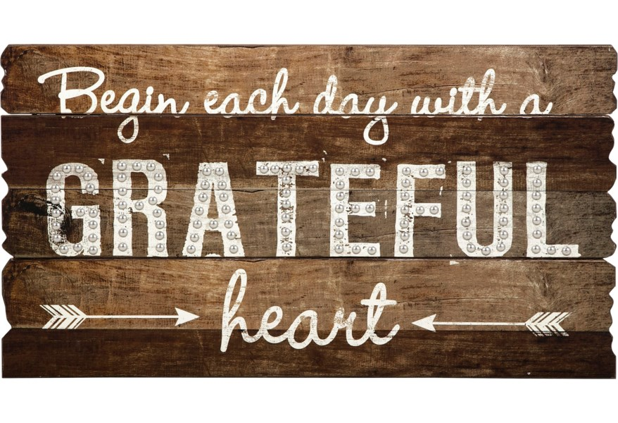 Imax Worldwide Home Wall Art 18329 Grateful Heart Wall Decor Corner Furniture Prints Paintings