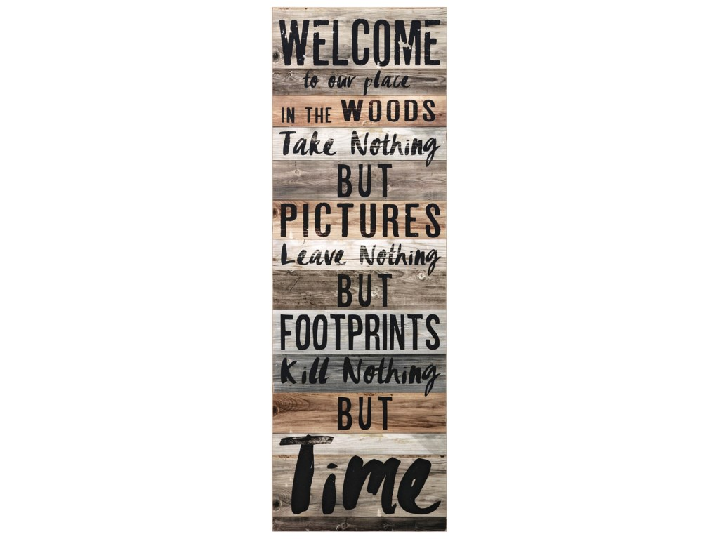 IMAX Worldwide Home Wall Art Welcome to the Woods Wall Decor ...