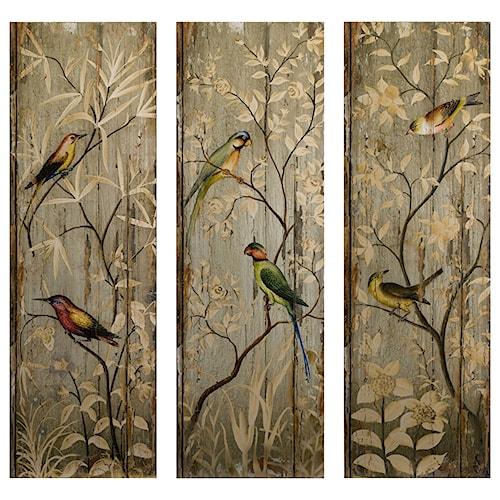 Imax worldwide home wall art calima bird wall decor set of 3