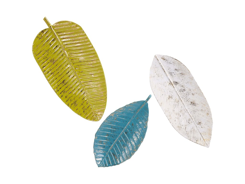 IMAX Worldwide Home Wall Art Palm Beach Leaf Tray Wall Decor - Set ...