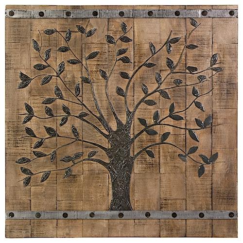 IMAX Worldwide Home Wall Art Tree of Life Wood Wall Panel | Howell ...