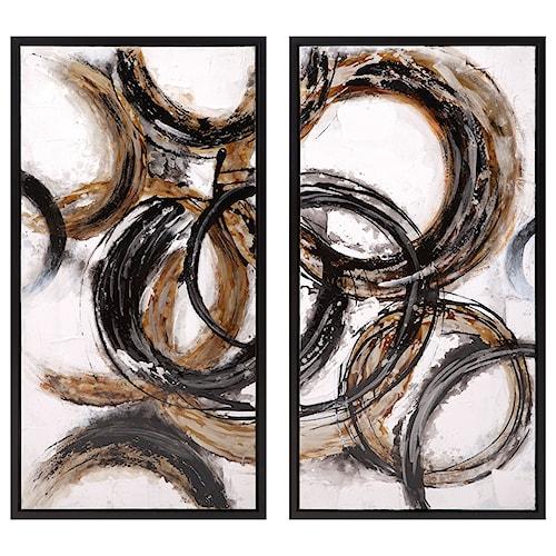 Imax worldwide home wall art luxor framed oil paintings ast 2
