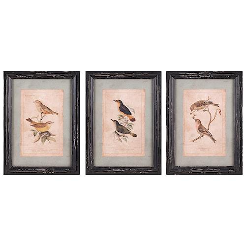 Imax worldwide home wall art woodland bird wall decor ast 3