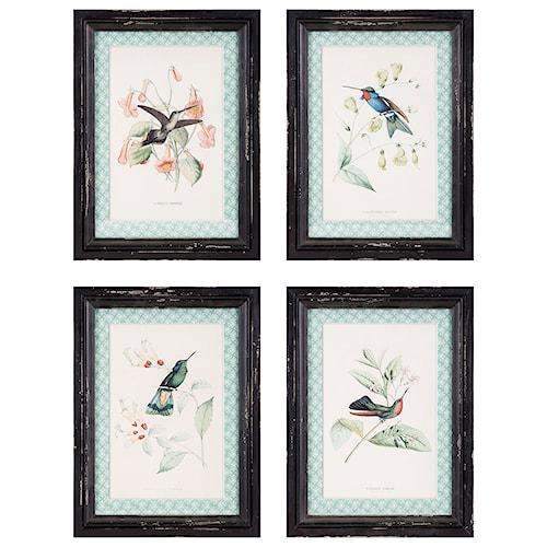 Imax worldwide home wall art hummingbird wall decor ast 4