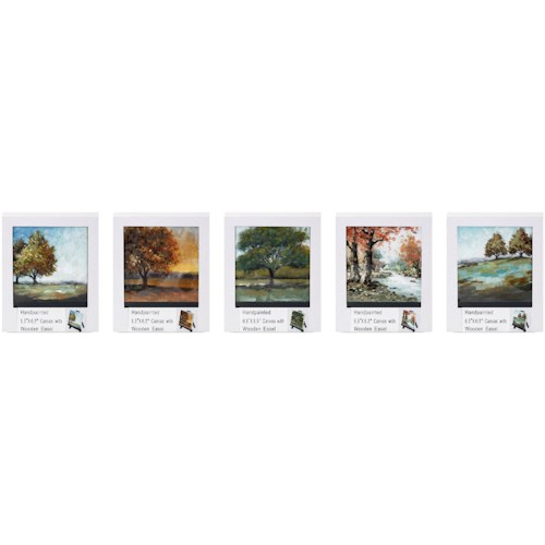 Imax worldwide home wall art mini canvas with easels individually gift boxed ast 5