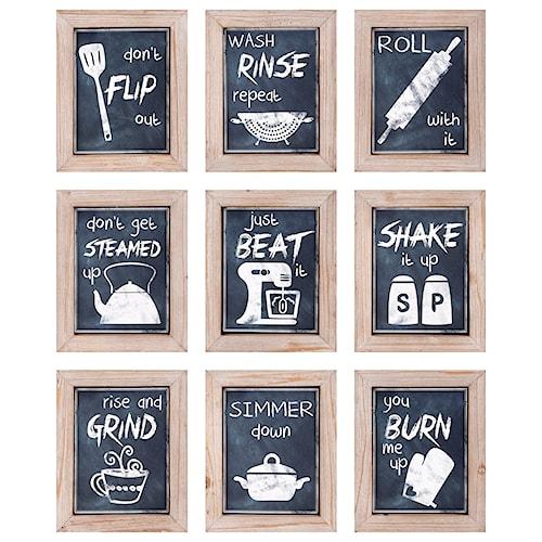 Imax worldwide home wall art kitchen inspirations wall decor ast 9