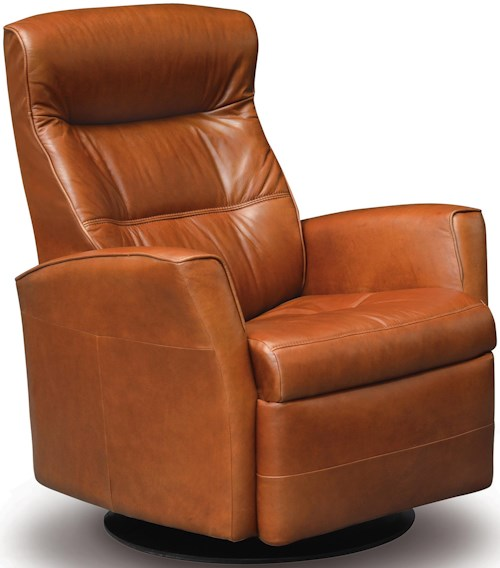 IMG Norway Recliners Modern Crown Recliner Relaxer with Swivel Base