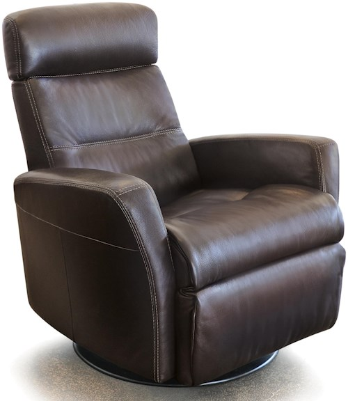 IMG Norway Recliners Modern Divani Recliner Relaxer with Swivel Base