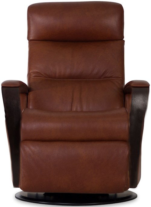 IMG Norway Recliners Modern Peak Recliner Relaxer with Exposed Wood Arms