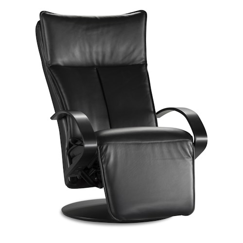 IMG Norway 2500 Elite Black Leather Recliner