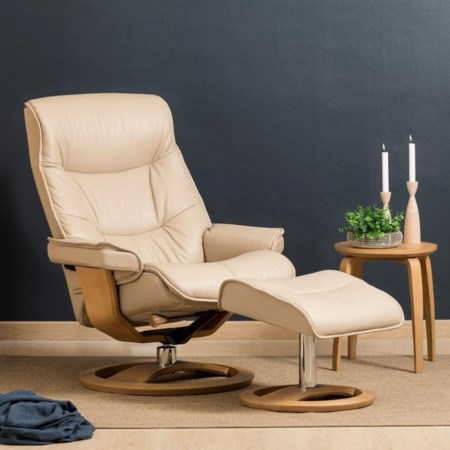 Large Cortina Recliner and Ottoman