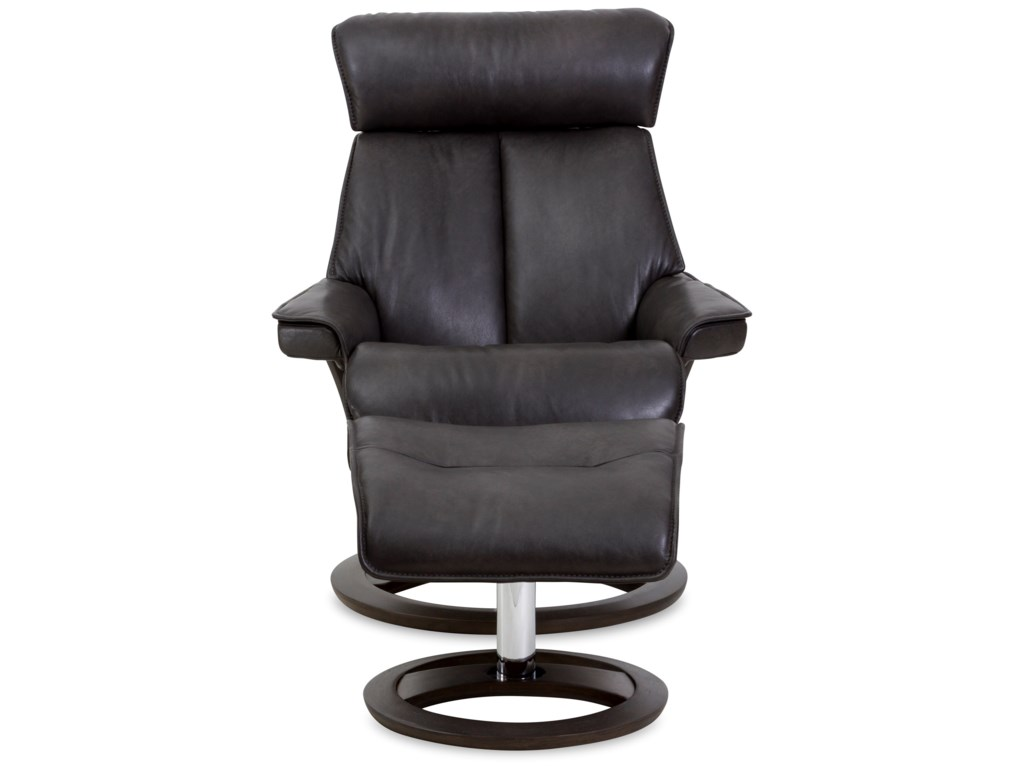 northern Designs RegalLarge Novel Recliner and Ottoman