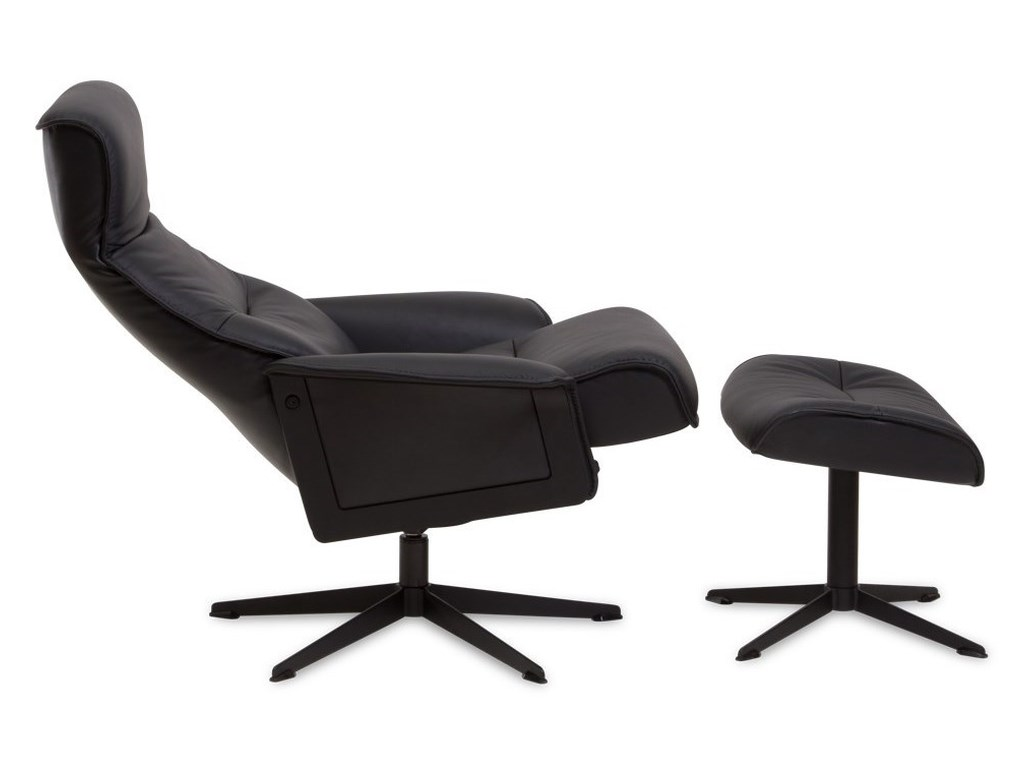 Img norway scandi modern recliner and ottoman with 360 swivel