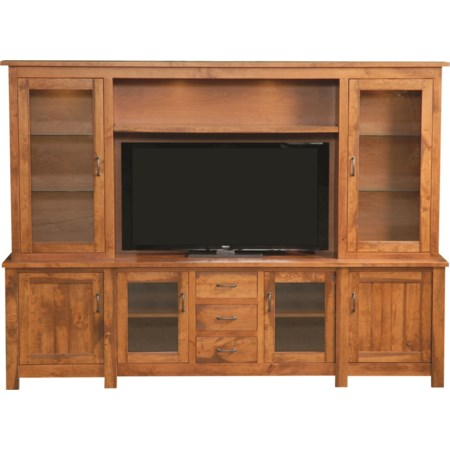 Rustic Hutch Wall Unit