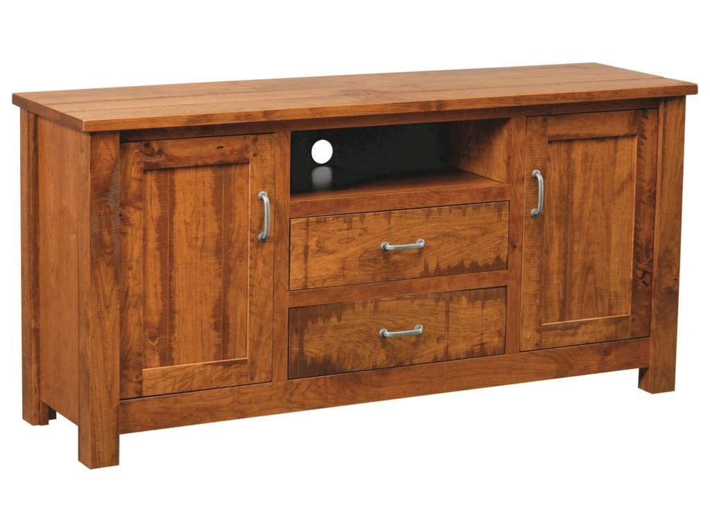 Integ Wood Products Entertainment Hilton Tv Stand With Adjustable