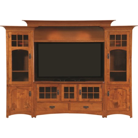Customizable Winchester Bridge Wall Unit