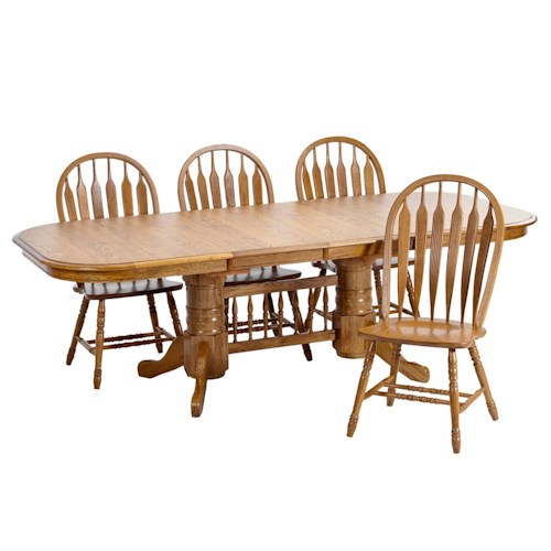 Intercon Classic Oak 5Pc Formica Top Dining Room
