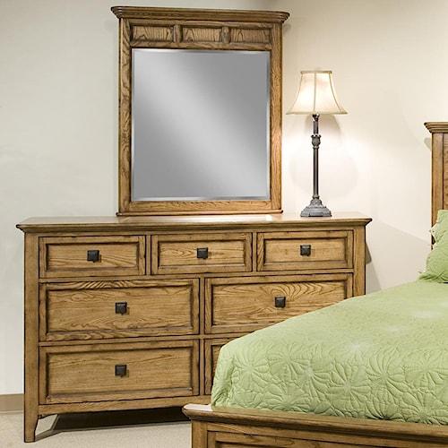 Intercon Alta 7-Drawer Dresser & Landscape Mirror Set