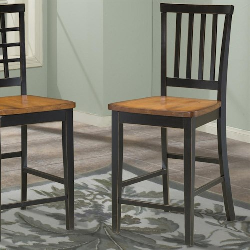 Intercon Arlington Slat Back 24 Inch Bar Stool